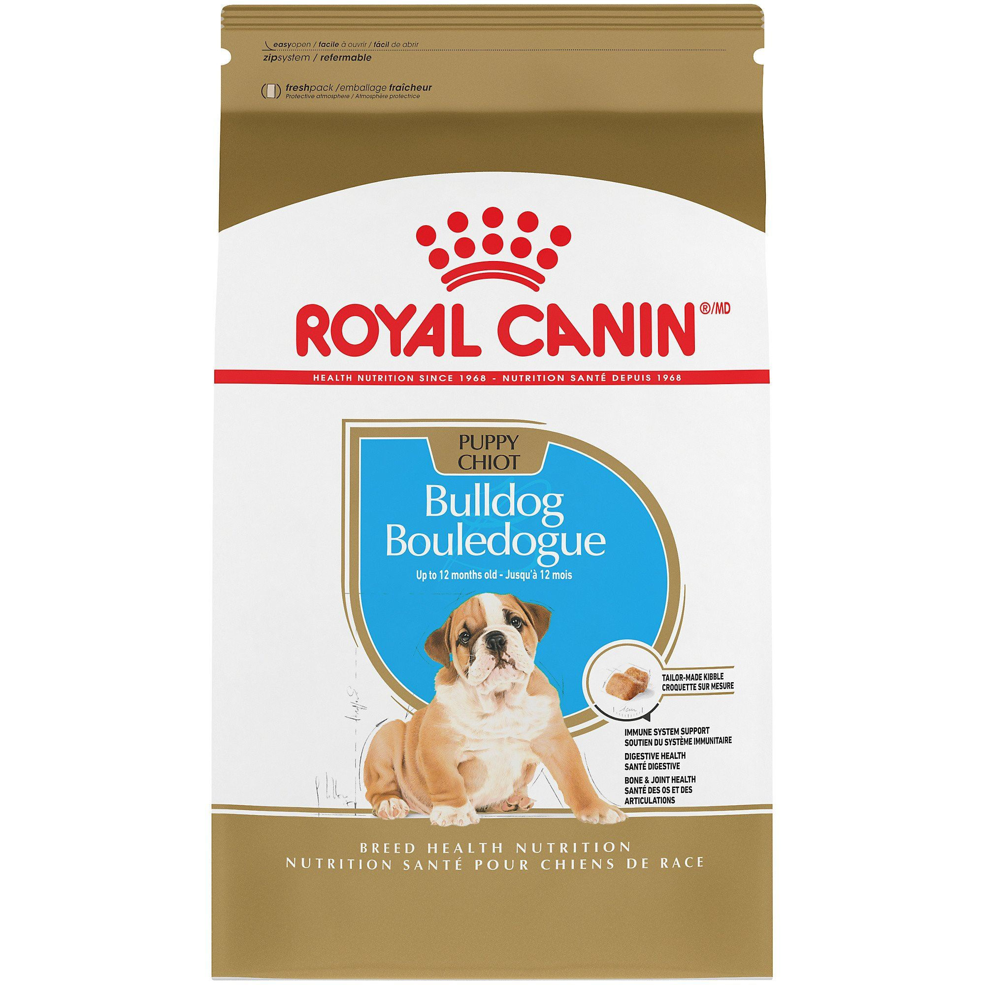 Royal Canin Breed Health Nutrition Bulldog Puppy Dry Dog Food 30