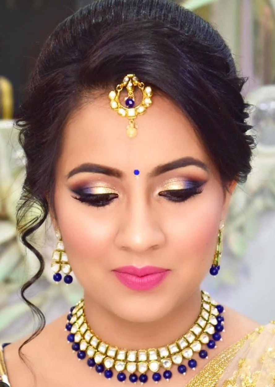 Pin By Bhavna Sonawane On Wedding Hairstyles Bridal Eye Makeup