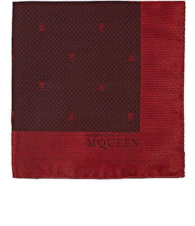 Alexander McQueen Skull Jacquard Silk Pocket Square - Pocket Squares - 504794512