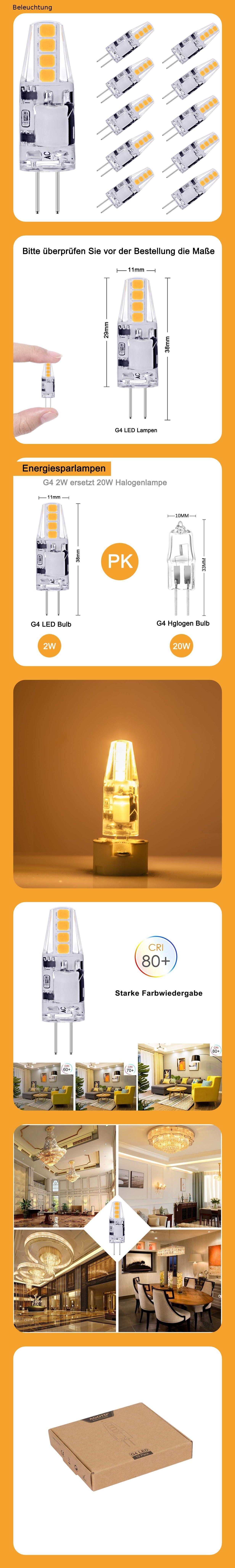 Agotd G4 Led Lampen 2w Led Birnen Ersetzt 20w Halogenlampen 3000k Warmweiss 160lm 12v Ac Dc Led Leuchtmittel 360 Grad G4 Led Birne In 2020 Led Birnen Led Lampe Led