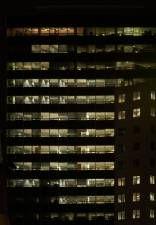 Highrisenight0025 Building Facade Glass Curtain Wall