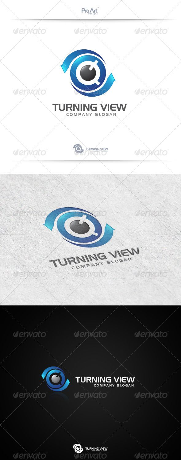 Turning View Logo Templates Fonts And Arrow Logo