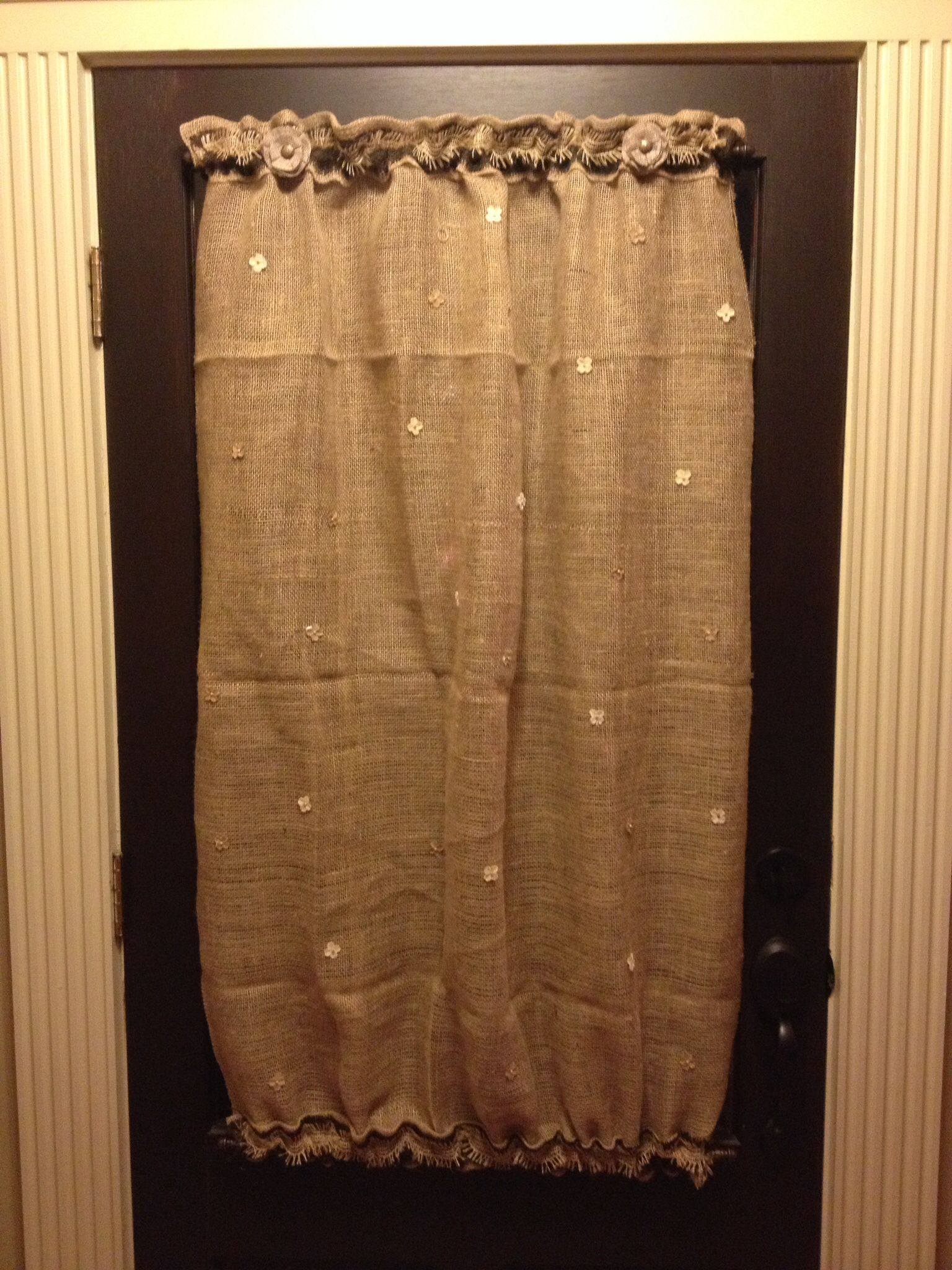 Burlap Curtain For Our Front Door Cortinas Cortinas