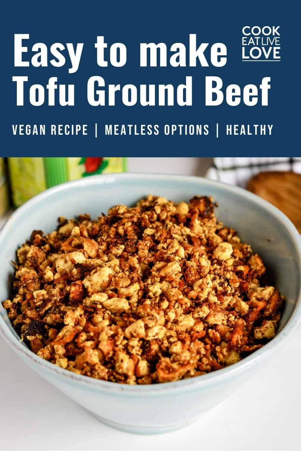 Making A Tofu Ground Beef Substitute Cook Eat Live Love Recipe In 2020 Recipes Cooking Ground Beef