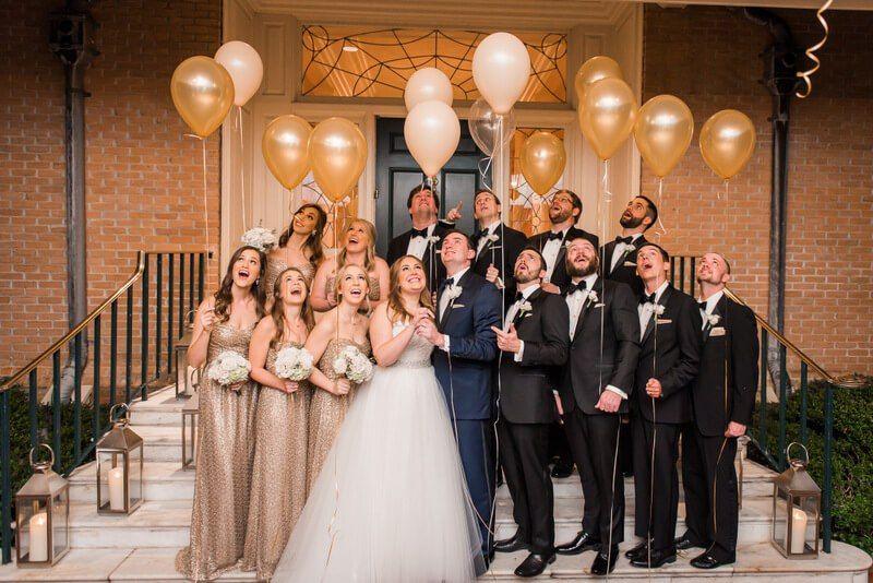Houston New Year S Eve Wedding Nate Messarra Photography Knotsvilla Wedding Ideas Canada Wedding Blog Gold Bridal Party Wedding Bridesmaids New Years Eve Weddings,Wedding Dress Netting Fabric