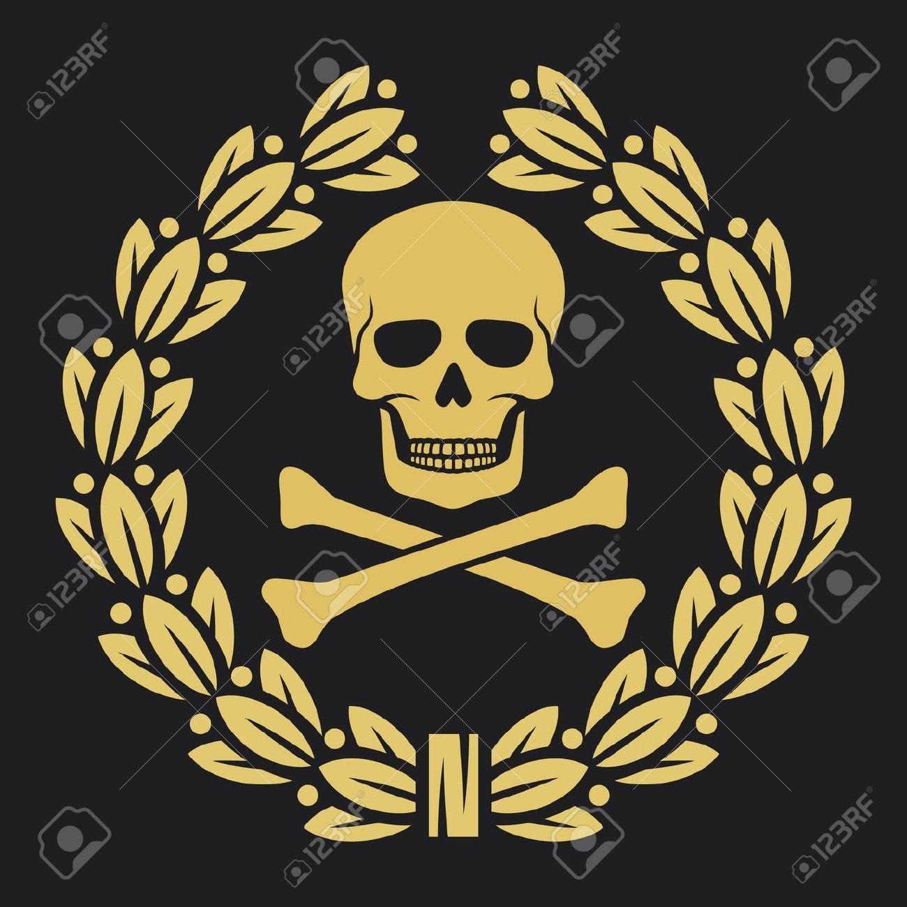 Skull bones and laurel wreath symbol pirate symbol skull and skull bones and laurel wreath symbol pirate symbol skull and buycottarizona