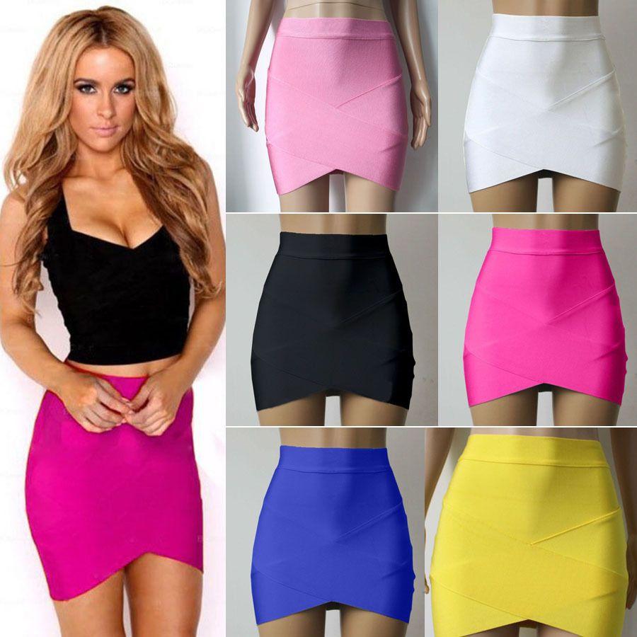 new sexy summer women bandage bodycon pencil skirt clubwear tight