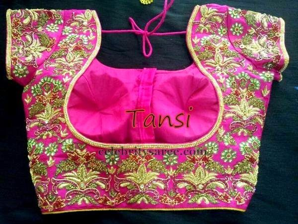 Maggam Work Blouse in Pink | Saree Blouse Patterns | Back Less and ...