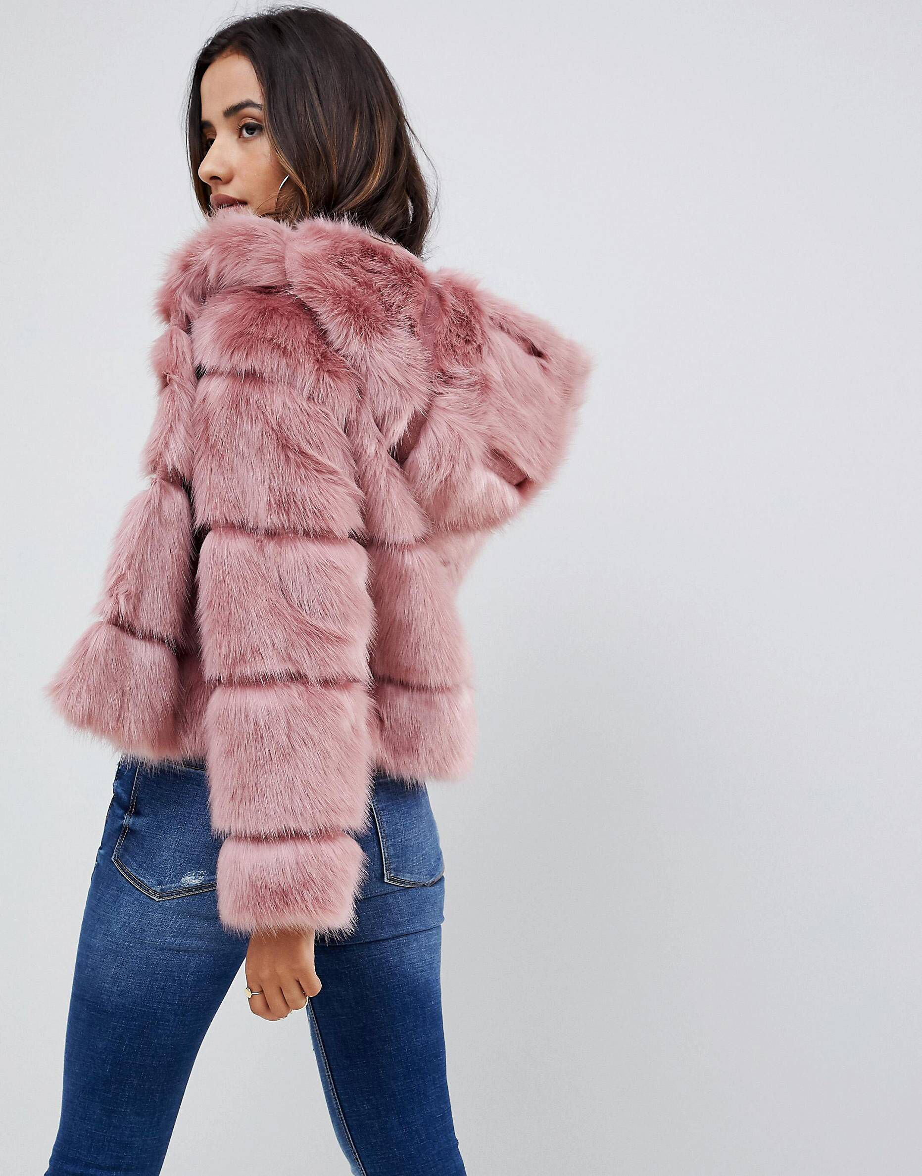 Just When I Thought I Didn T Need Something New From Asos I Kinda Do Pink Fur Coat Faux Fur Hooded Coat Fur Coat [ 2377 x 1863 Pixel ]
