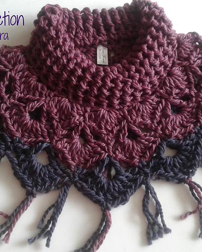 Arte Crochet Per 250 Capa Cuello Ganchillo Bufanda