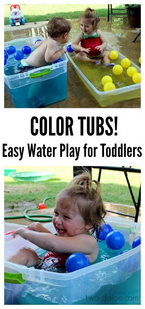 Toddler Water Play: Color Tubs | Water play, Play ideas and Plays