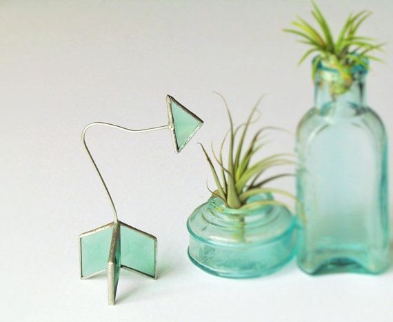 Stained Glass Arrow 3D Green and Silver Colored by SNLCreations