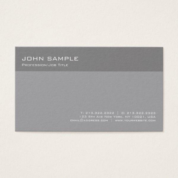 Modern elegant grey professional simple plain business card custom modern elegant grey professional simple plain business card reheart Gallery