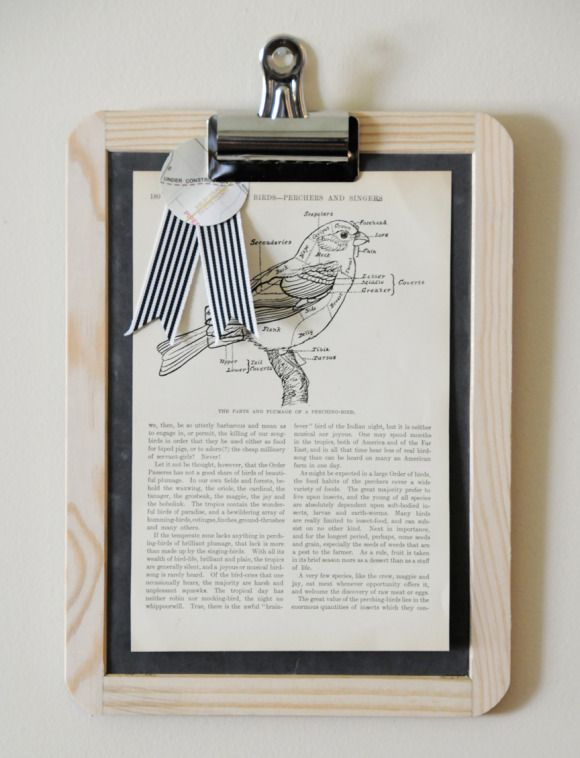 use a chalkboard slate as a frame for a photo, art print, or book ...