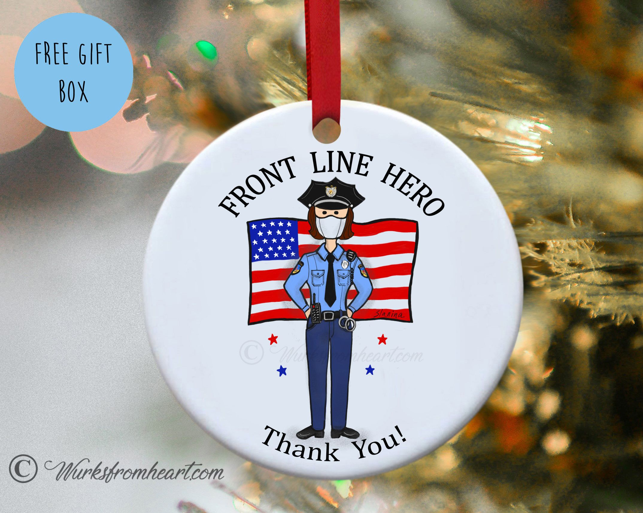 Gift for female police officer front line hero essential