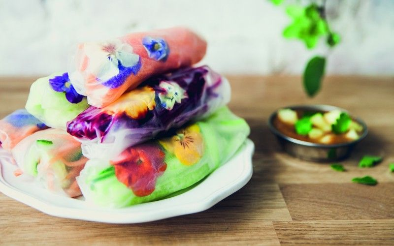 Summer rolls with sweet and sour dip healthy starter recipe summer rolls with sweet and sour dip healthy starter recipe vegan forumfinder Gallery