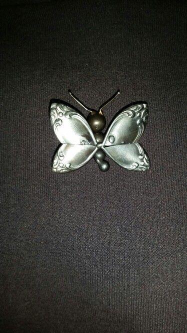 Butterfly Pin Tig Welding Spoon Handles Ball Bearings Welding Art Yard Art Flower Art