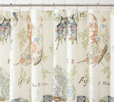 Pottery Barn Butterfly Shower Curtain With Images Butterfly
