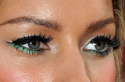 Quirky Makeup Idea Leona Lewiss Green Liner On The Bottom