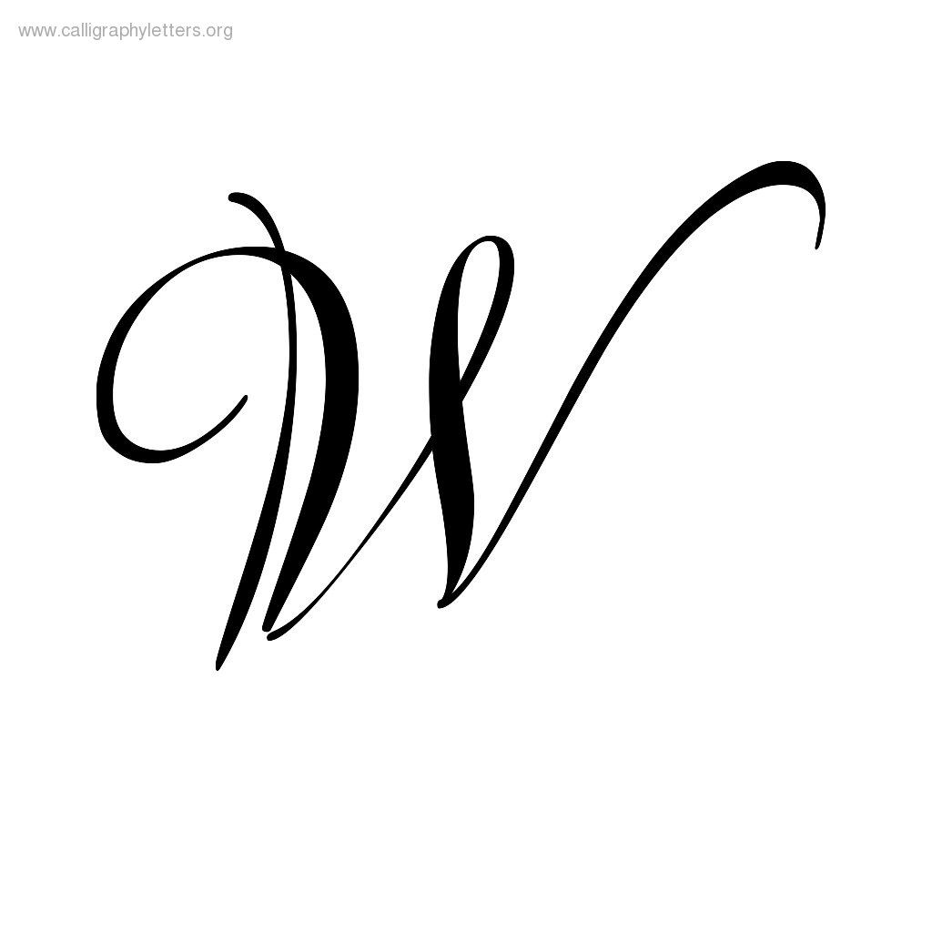 Calligraphy Letter W