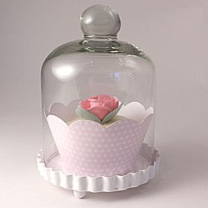Cupcake stand - Miniature Glass Dome stand for Single Cupcakes: Amazon.co.uk: Kitchen & Home