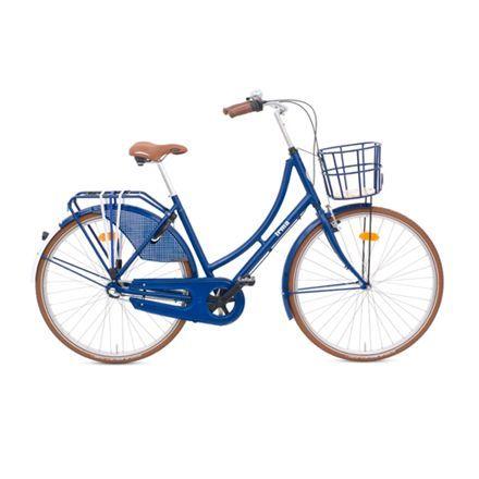 Damecykel 3 gear - Irma - Irmablå Limited Edition inkl. ringlås og cykelkurv