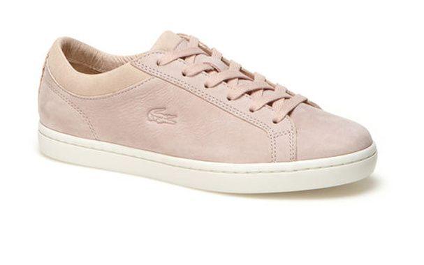 Des baskets roses lacoste