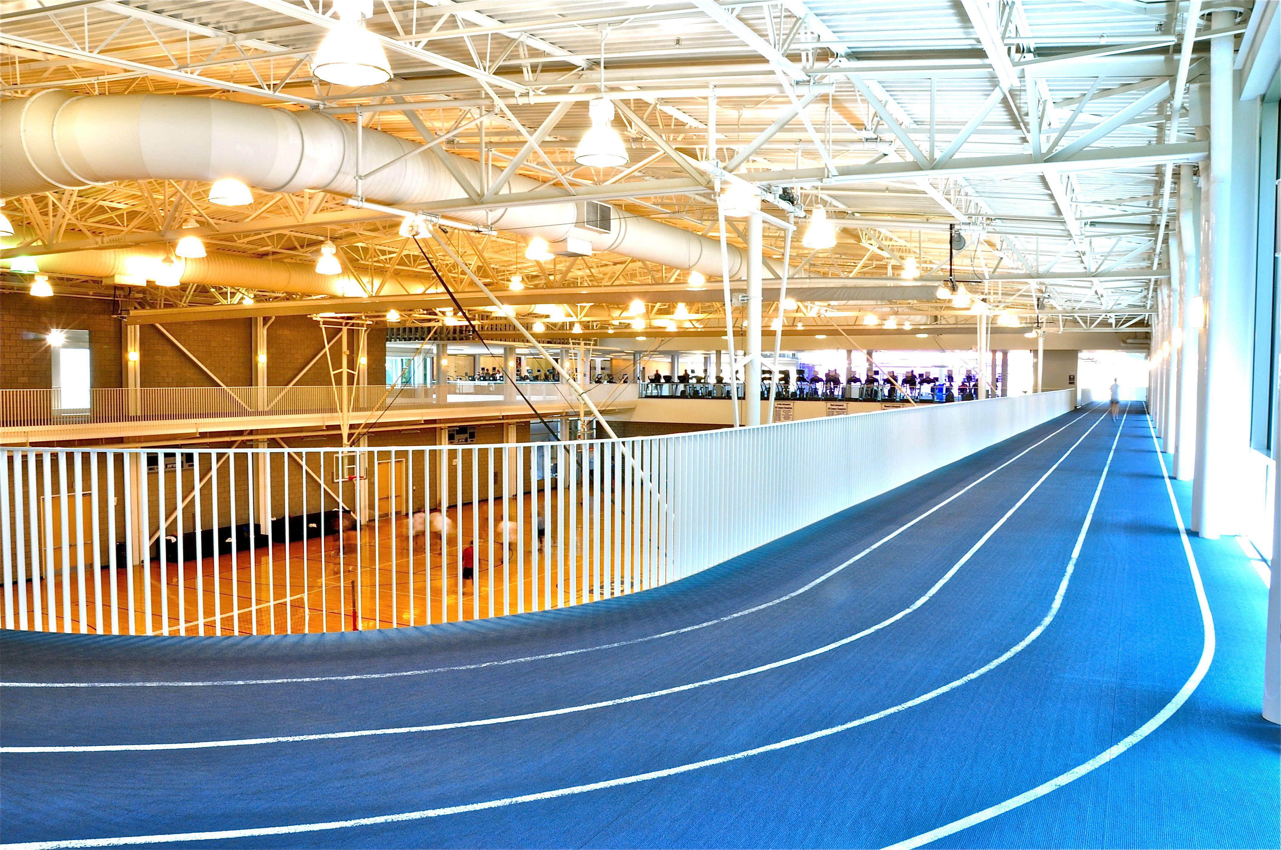 Indoor jogging track tcu campus jogging track