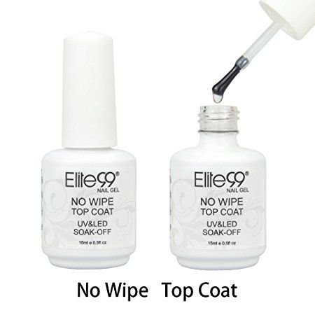 Qimisi Soak Off No Wipe Top Coat Gel Polish UV LED Nail Art Care Manicure 15ml