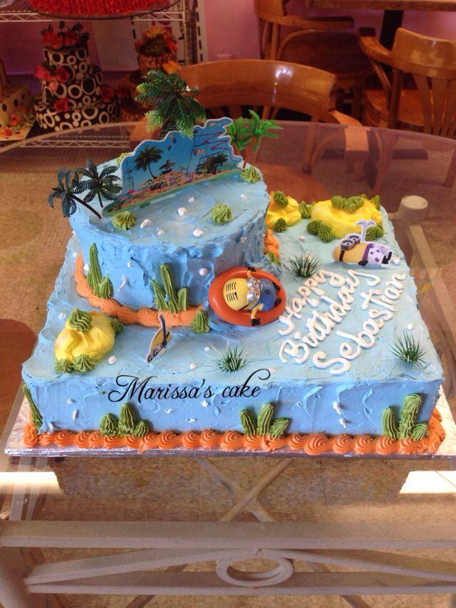 Despicable me birthday cake. Visit us Facebook.com/marissa'scake or www.elmanjarperuano.com