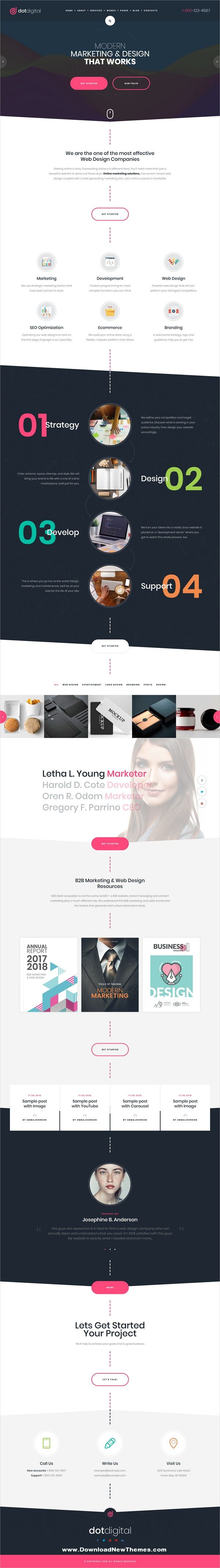 Dotdigital Web Design Agency Wordpress Theme