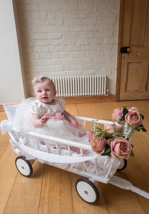 Baby Wedding Wagon To Bring Your Little One Down The Aisle For Flowergirl Bridesmaid Or Pageboy Child Friend Baby Wedding Baby Flower Girl Flower Girl Wagon