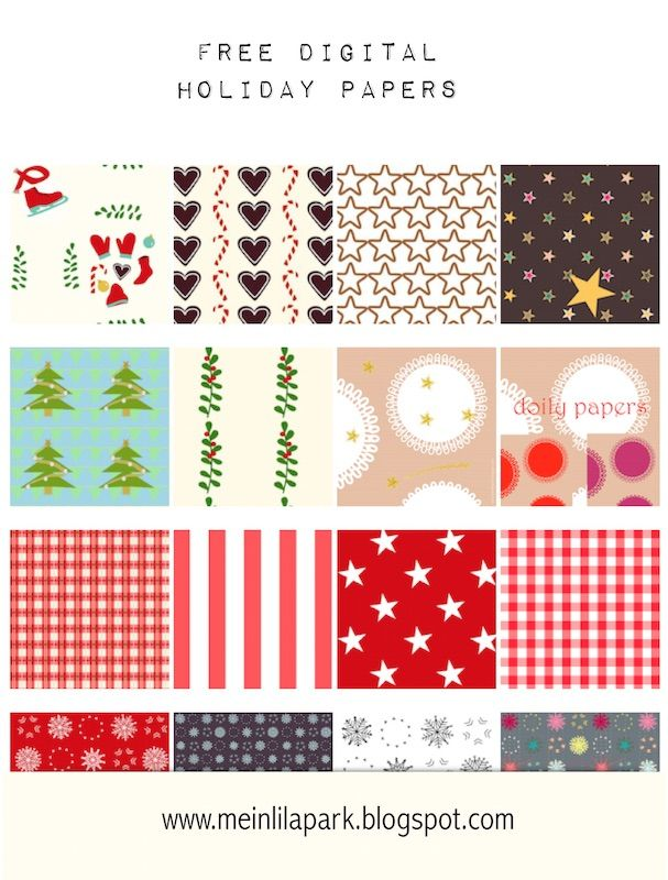 Free Digital Christmas Scrapbooking Papers Weihnachtspapier