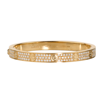 e1012d8be89b cartier love bracelet 18K yellow gold set with diamonds
