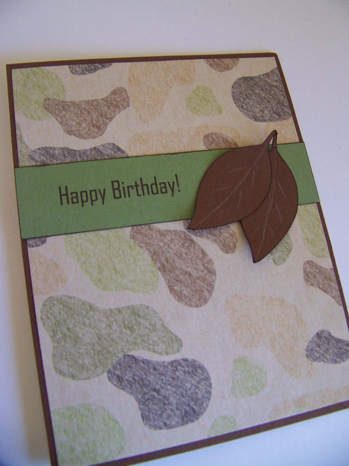 Pin by juli ann on cards pinterest card ideas and cards birthday card for men camo and leaves by whisperingwildflower bookmarktalkfo Image collections