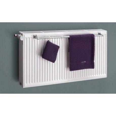 Eastgate Chrome Towel Rail Bar To Fit 600mm Double Panel Radiator - badezimmerspiegel mit radio