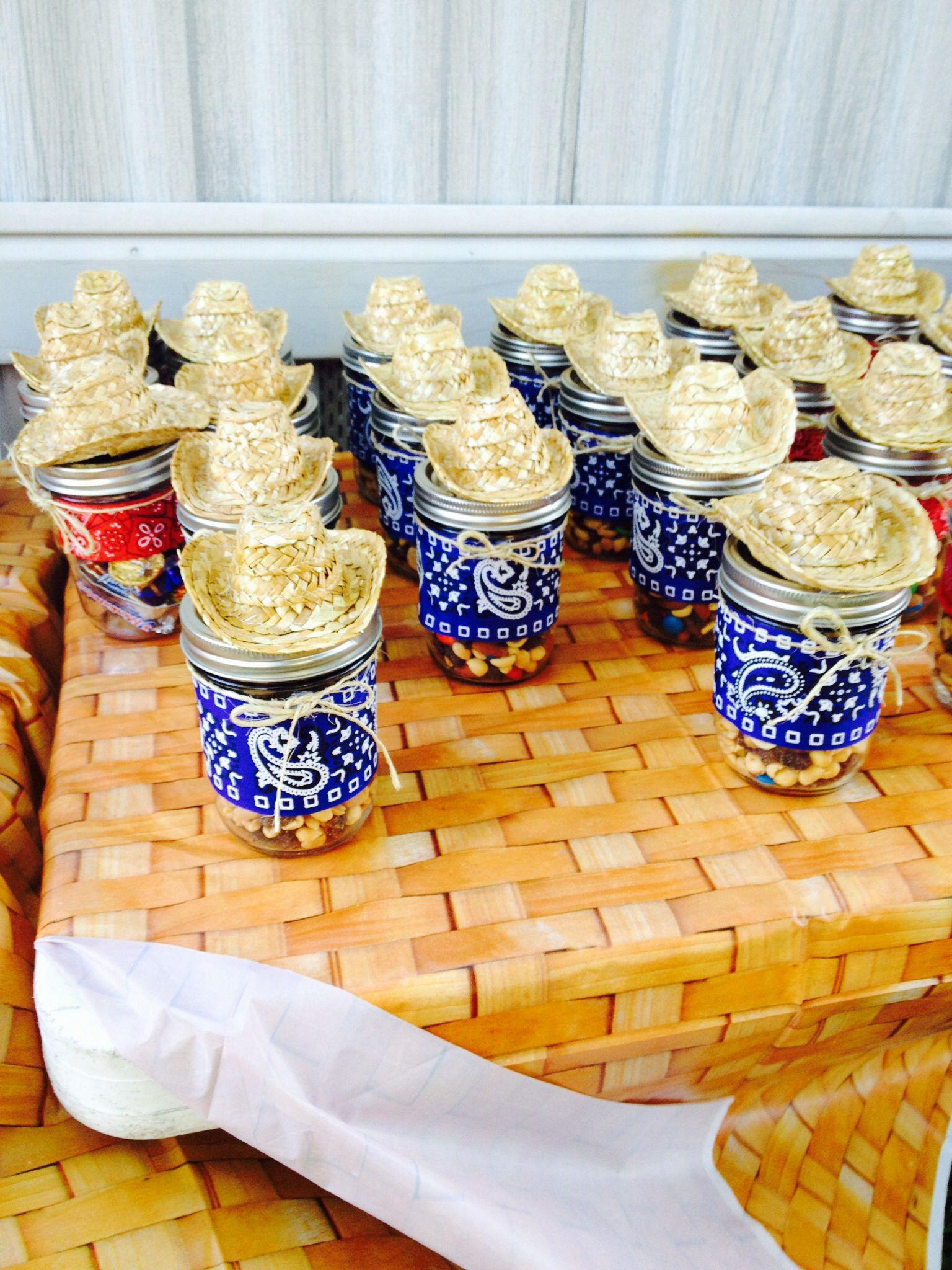 Western Mason Jar Party Favor Cowboy Party Centerpiece