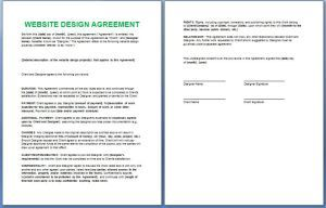 Official Website Design And Development Contract Template Free