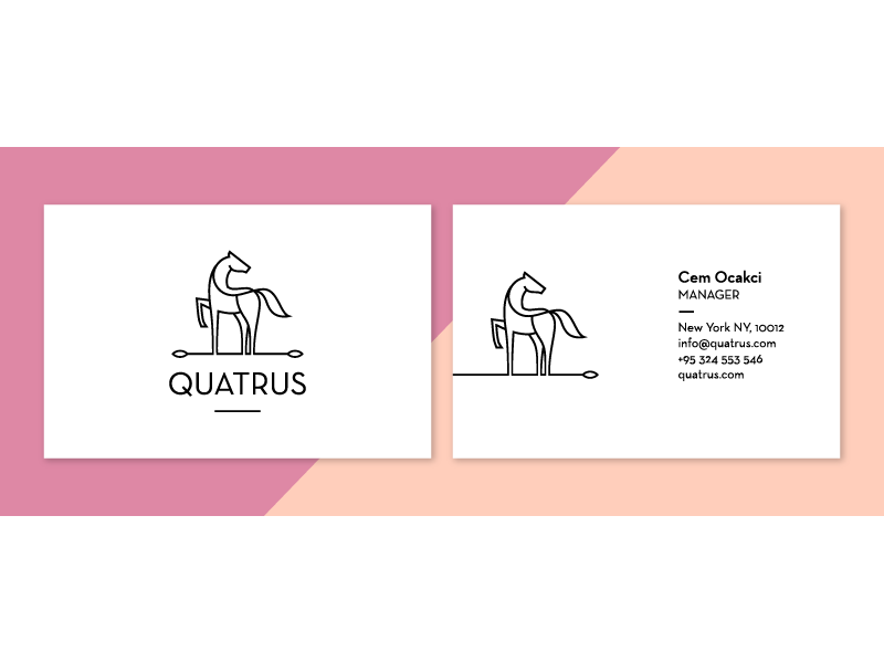 Q   Business cards, Business and Logos