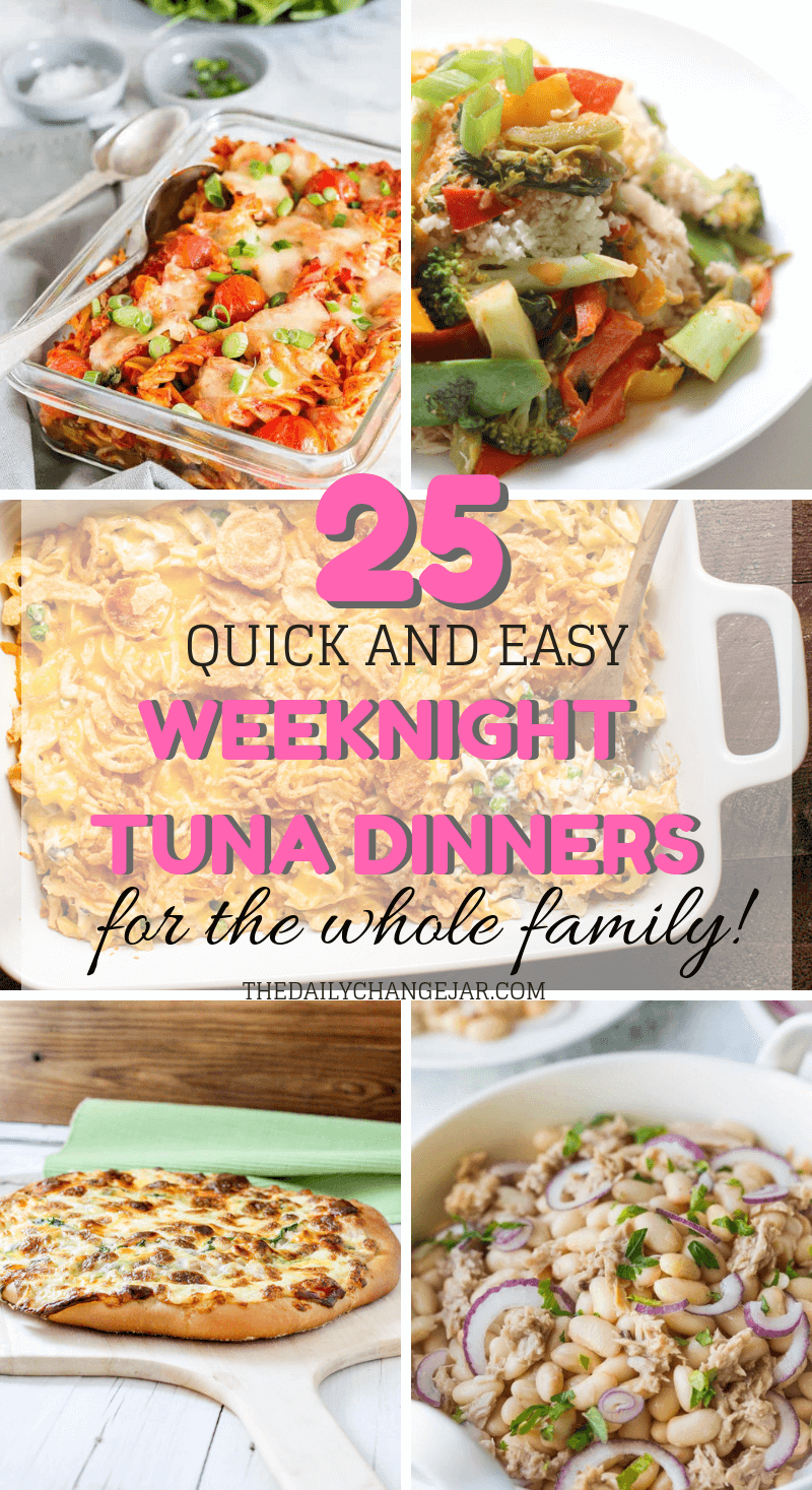 25 Cheap And Easy Recipes Using Canned Tuna The Daily Change Jar Cheap Easy Meals Canned Tuna Recipes Recipe Using Canned Tuna