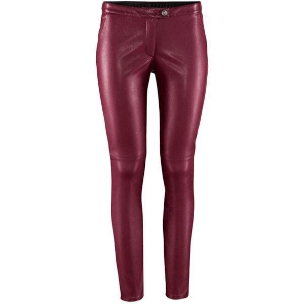 9617a09cde Blackfive Low Rise Solid Tone Leather Pants (115 ILS) ❤ liked on Polyvore  featuring pants, jeans, blackfive, bottoms, leather pants, low rise pants,  ...