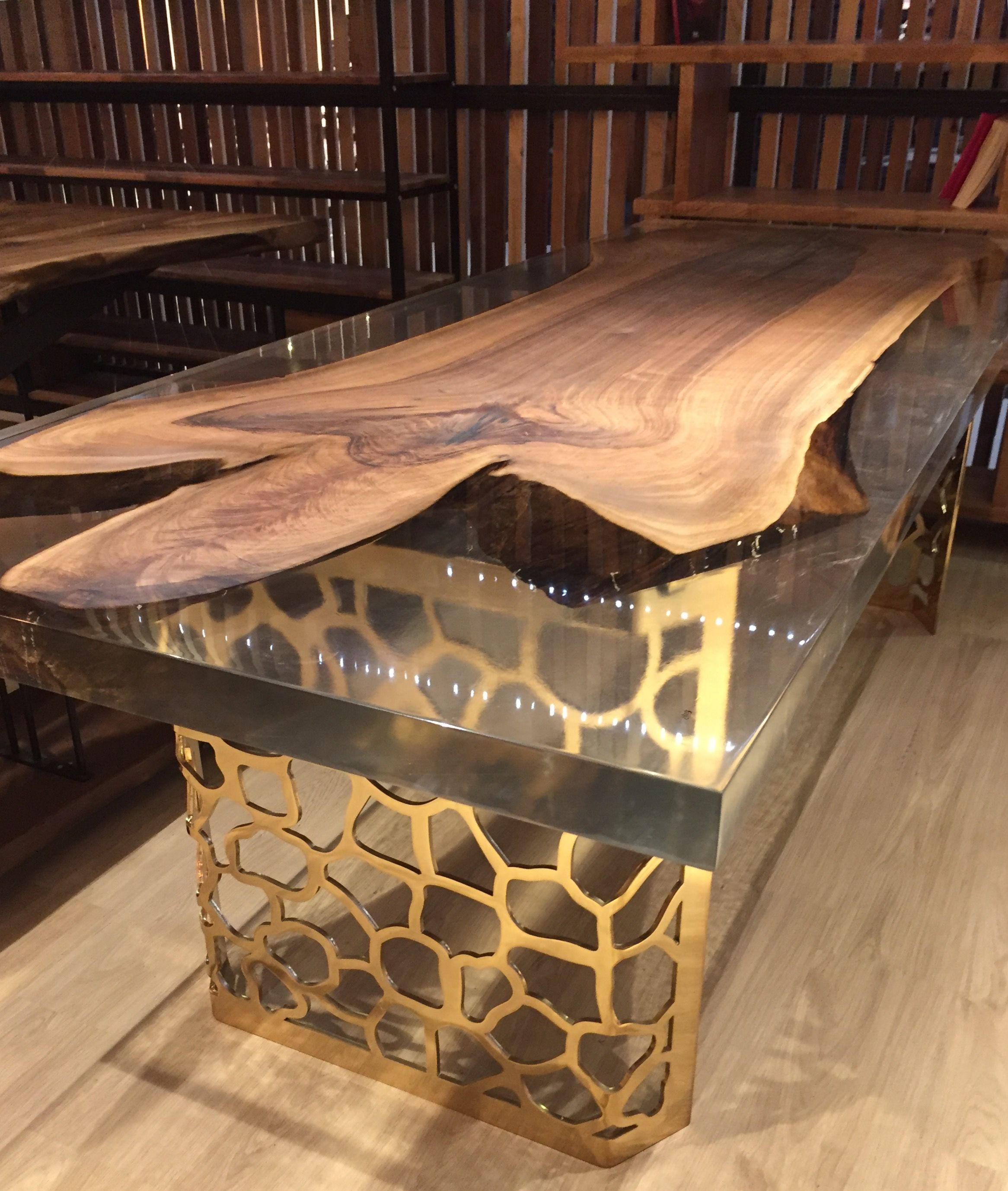 Live Edge Table Epoxy Ankara Resin Woodwork Hobbies Interiors Woodworking Wood Rustic