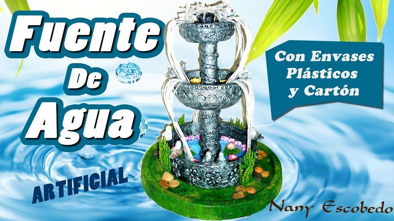 Fuente De Agua Artificial 2 Artesanías Con Botellas De