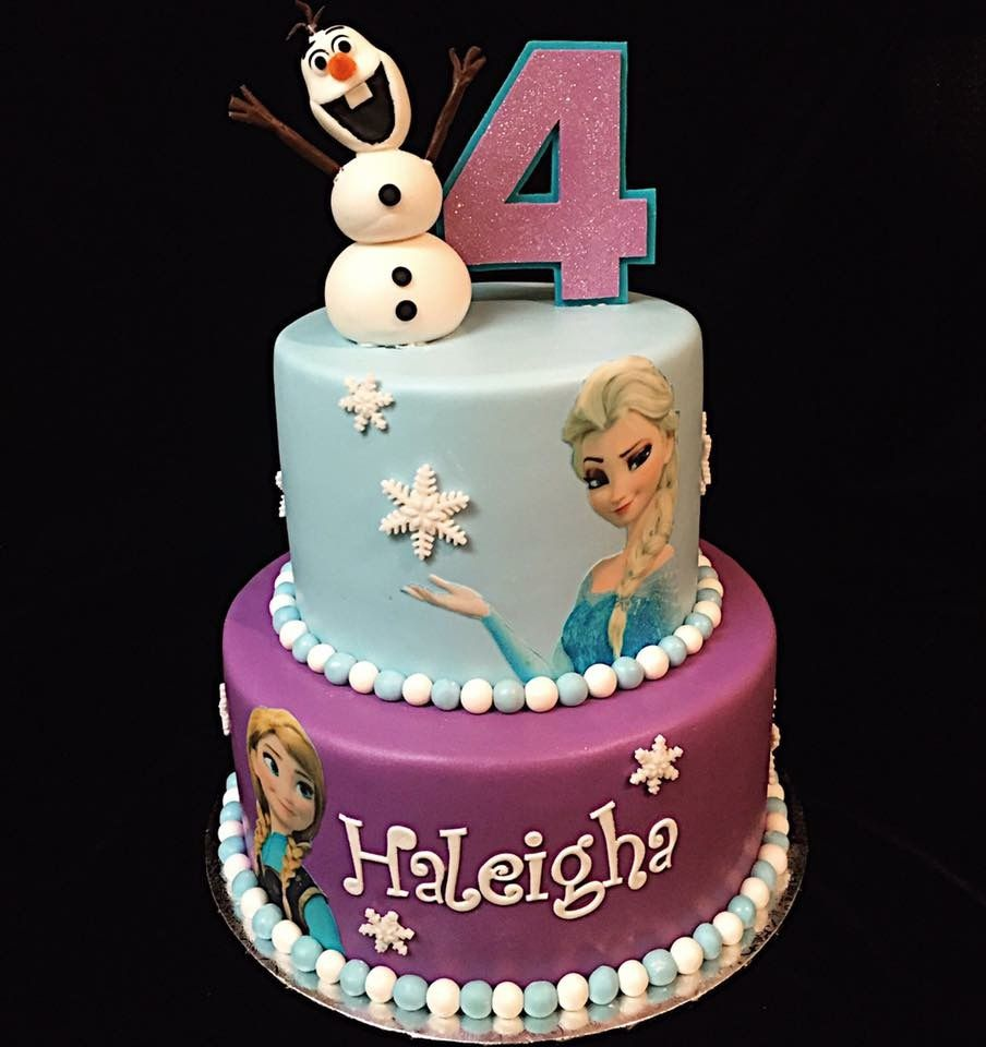 Frozen Birthday Cake Elsa Anna Frozen 2 Tier Birthday Cake