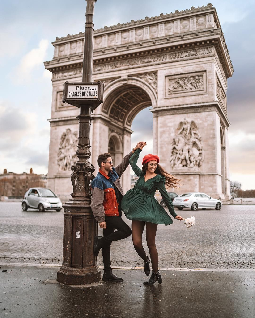 "Photo of RAQUEL & MIGUEL on Instagram: ""The person who dances with you in the rain will most likely walk with you in the storm 💃🏻🕺🏻 if you go to Paris during winter get prepared…"""