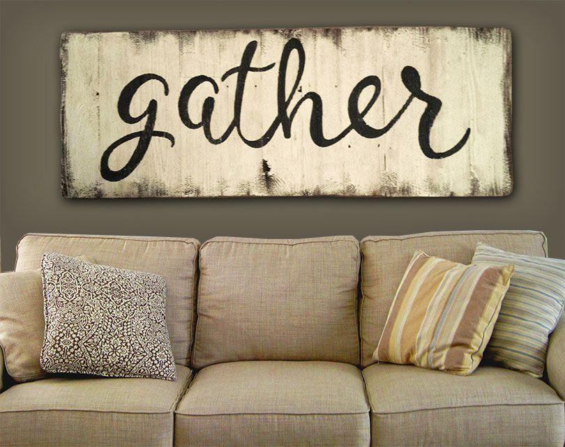 $100 VALUE! Gather sign - Give Away #3 Mi casa decoracion, Cuadros - cuadros para decorar