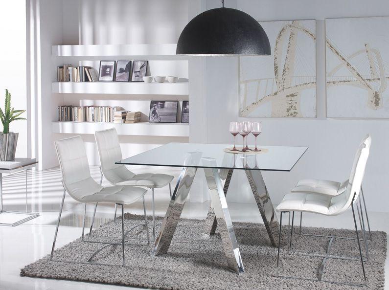 Mesa de comedor Medidas: 120 x 120 x 75 cm | Mesas | Pinterest ...