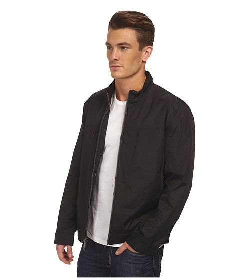 Andrew marc men's city rain tech moto jacket
