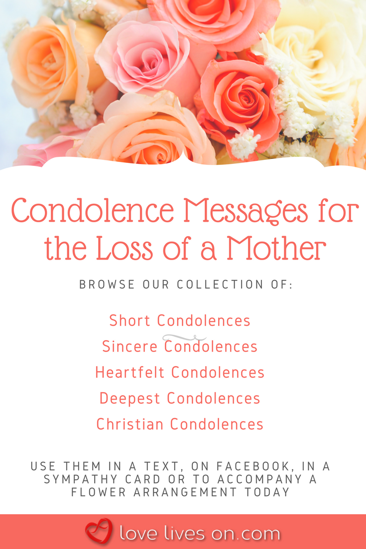 short condolence messages loss mother