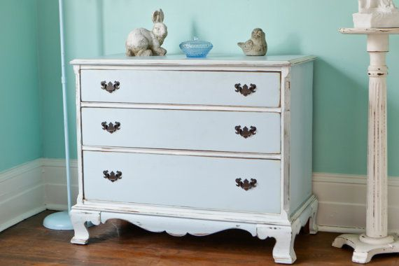cedar chest dresser shabby chic distressed blue white vintage cottage solid cedar drawers